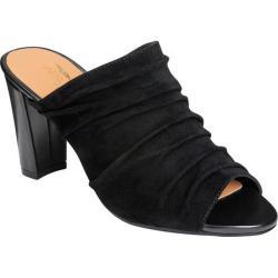 Women's Aerosoles Open Road Slide Sandal Black Suede (More options available)