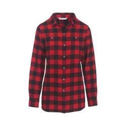 Women's Woolrich Buffalo Check Boyfriend Shirt Old Red Check