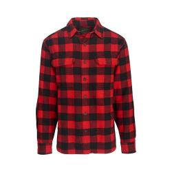 Men's Woolrich Oxbow Bend Flannel Shirt Black/Red