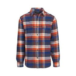 Men's Woolrich Oxbow Bend Flannel Shirt New Royal Blue