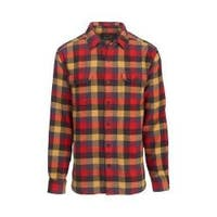 Men's Woolrich Oxbow Bend Flannel Shirt Red Multi