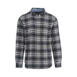 Men's Woolrich Trout Run Shirt Black Hunt Plaid