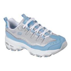 Women's Skechers D'Lites New Retro Sneaker Light Blue/Gray