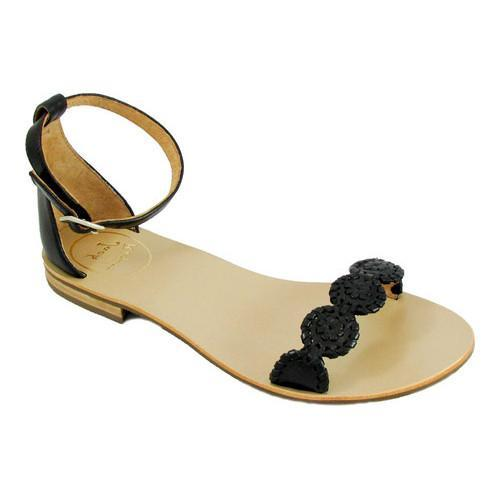 607034cc8bb0c Shop Women s Jack Rogers Daphne Ankle Strap Sandal Black Black Leather -  Free Shipping Today - Overstock - 16459184