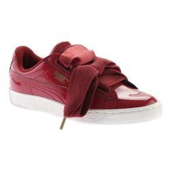 Women's PUMA Basket Heart Patent Sneaker Tibetan Red/Tibetan Red