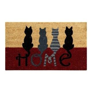 Cat Home Coir Door Mat