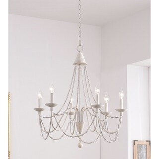 Design Craft Aubrey White 6-light Chandelier