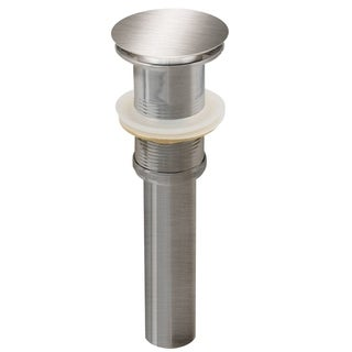 2.6-in. W Brass Bathroom Sink Drain In Brushed Nickel