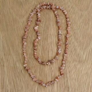 Handmade Moonstone 'Earthen Infatuation' Necklace (Brazil)