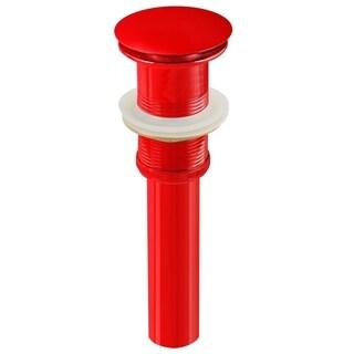 2.6-in. W Brass Bathroom Sink Drain In Red
