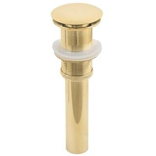 2.6-in. W Brass Bathroom Sink Drain In Gold