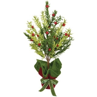 Pine & Berry Potted Tree