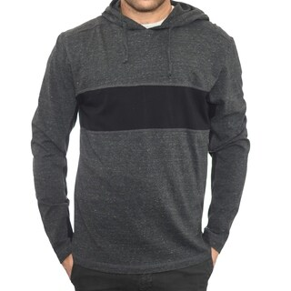 StraightFaded Mens Color Block Long Sleeve Snow Heather Fashion Hoodie