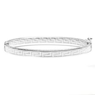Pori Jewelers 925 sterling silver Greek Key Design Kid bangle bracelet