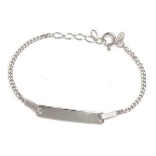 Pori Jewelers 925 sterling silver Cuban Chain Kid ID bracelet