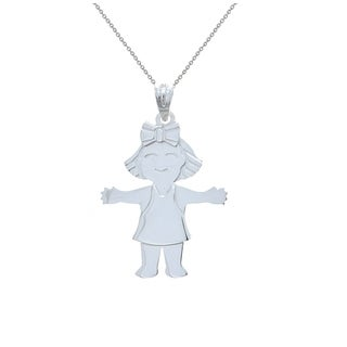 Pori Jewelers 925 sterling silver girl kids pendant necklace