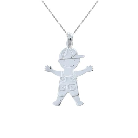 Pori Jewelers 925 sterling silver boy kids pendant necklace