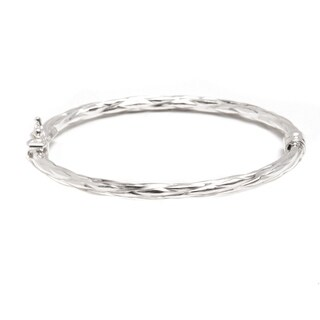 Pori Jewelers 925 sterling silver Textured Kid bangle bracelet