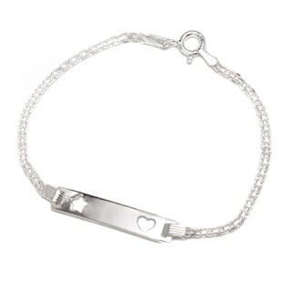 Pori Jewelers 925 sterling silver Bismark Chain Kid ID bracelet