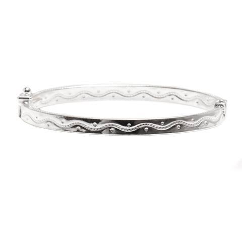 Pori Jewelers 925 sterling silver Wavie Design Kid bangle bracelet