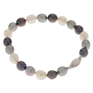 "PearLustre by Imperial 7.5"" SS Multi-color Freshwater Pearl Bracelet
