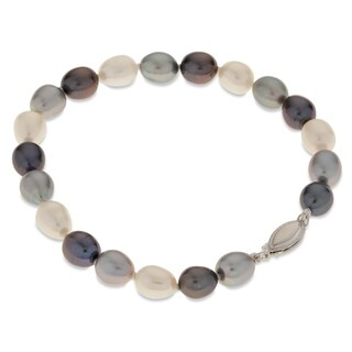 "PearLustre by Imperial 7.5"" SS Multi-color Freshwater Pearl Bracelet"