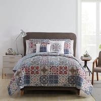 VCNY Home Azure 5-piece Reversible Quilt Set