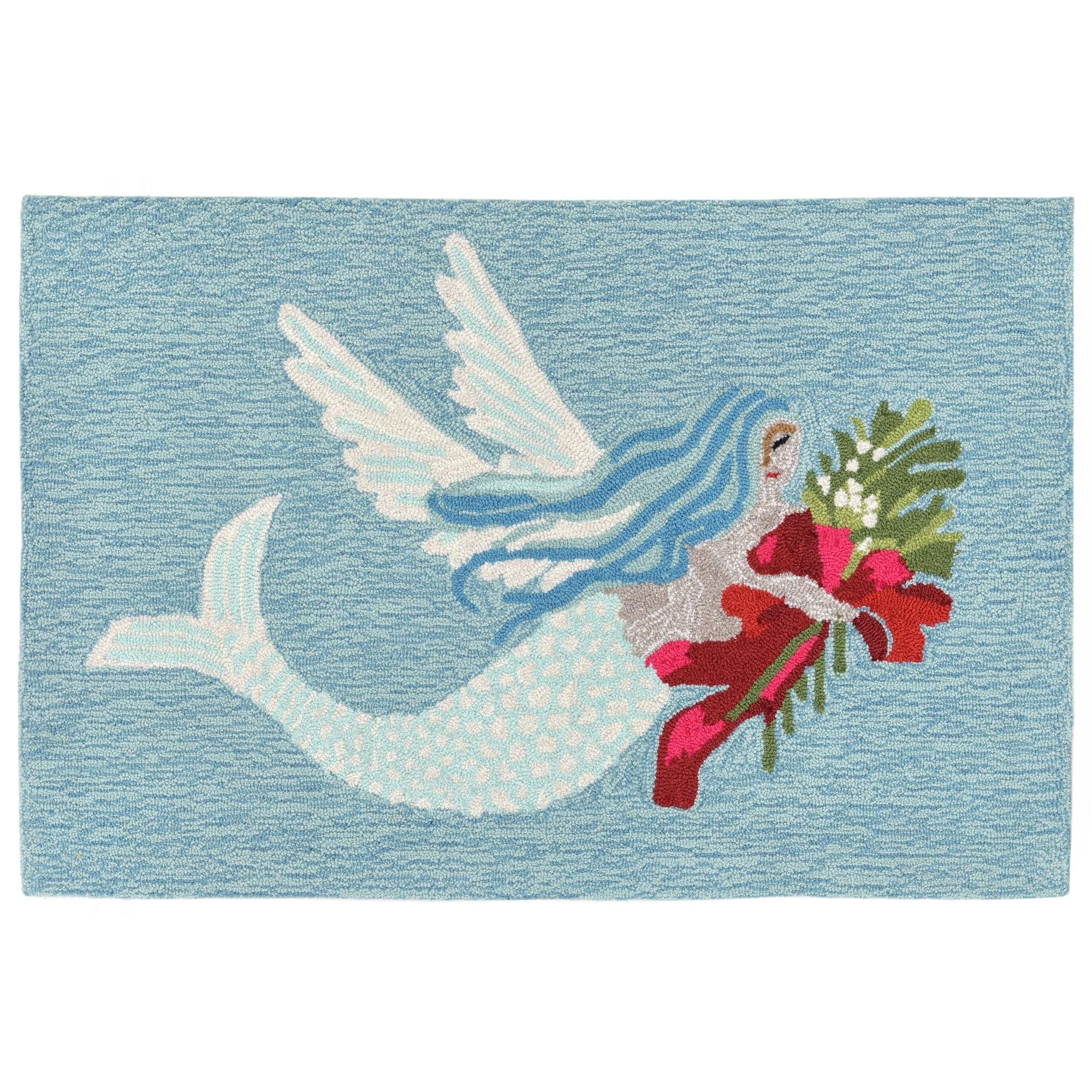 Liora Manne Holiday Mermaid Outdoor Rug 2 X 3 2 X 3