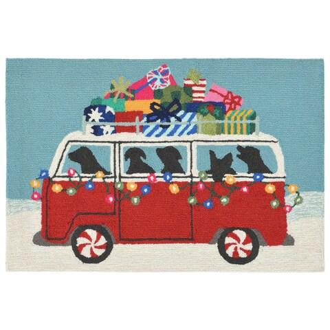 Liora Manne Gift Van Outdoor Rug (2'6 x 4') - 2'6 x 4'