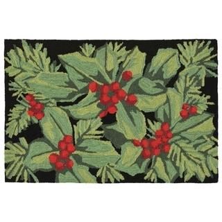 Liora Manne Winter Berry Outdoor Rug (2'6 x 4') - 2'6 x 4'