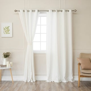 Aurora Home Belgian Flax Linen Grommet Curtain Panel