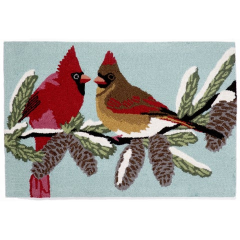 Liora Manne Winter Birds Outdoor Rug (2'6 x 4') - 2'6 x 4'