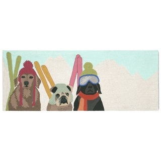 Downhill Doggies Outdoor Rug (2'3 x 6') - 2'3 x 6'