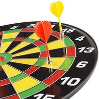Magnetic Dart Board Set with 16 inch Board, 6 Colorful Darts and Built In Hanging Hook - by Hey! Play!
