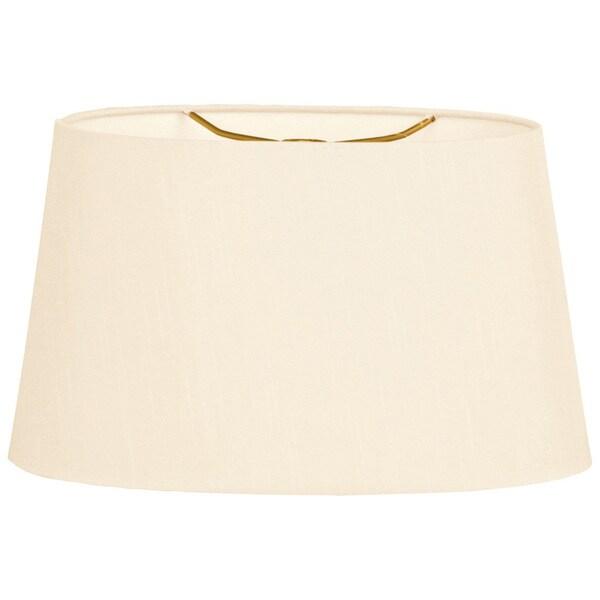 Royal Designs Shallow Oval Hardback Lamp Shade, Eggshell, 16 x 18 x 9.5
