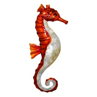 Wall Seahorse Red And Pearl
