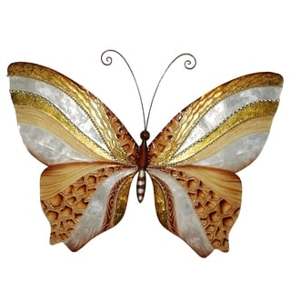 Wall Butterfly With Copper And Pearl