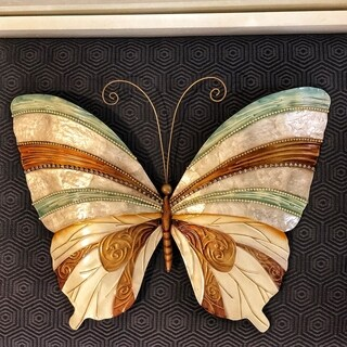 Wall Butterfly With Blue Pearl And Copper