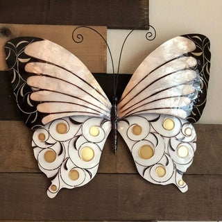 Wall Butterfly With Black Pearl And Gold