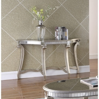 Best Master Furniture Champagne Mirrored Sofa Table