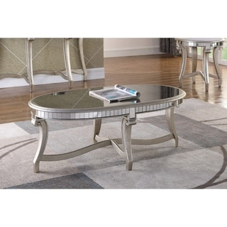 Best Master Furniture Champagne Mirrored Coffee Table