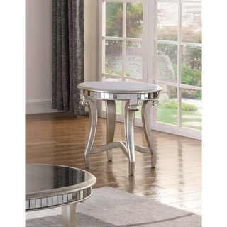 Best Master Furniture Champagne Mirrored End Table