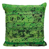 Mina Victory Acidwash Stripe Apple Green Throw Pillow (20-Inch X 20-Inch)