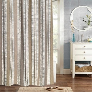 "Oxford 100% Cotton Woven Jaqcuard Shower Curtain 70""x72"""