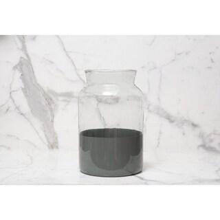 Grey Colorblock Mason Jar