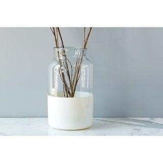 White Colorblock Mason Jar, Large