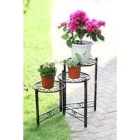 24 in. Three Tier Heart Clover Round Plant Stand