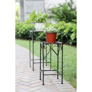 Celtiv Clover Square Cast Iron Plant Stand Set of 2