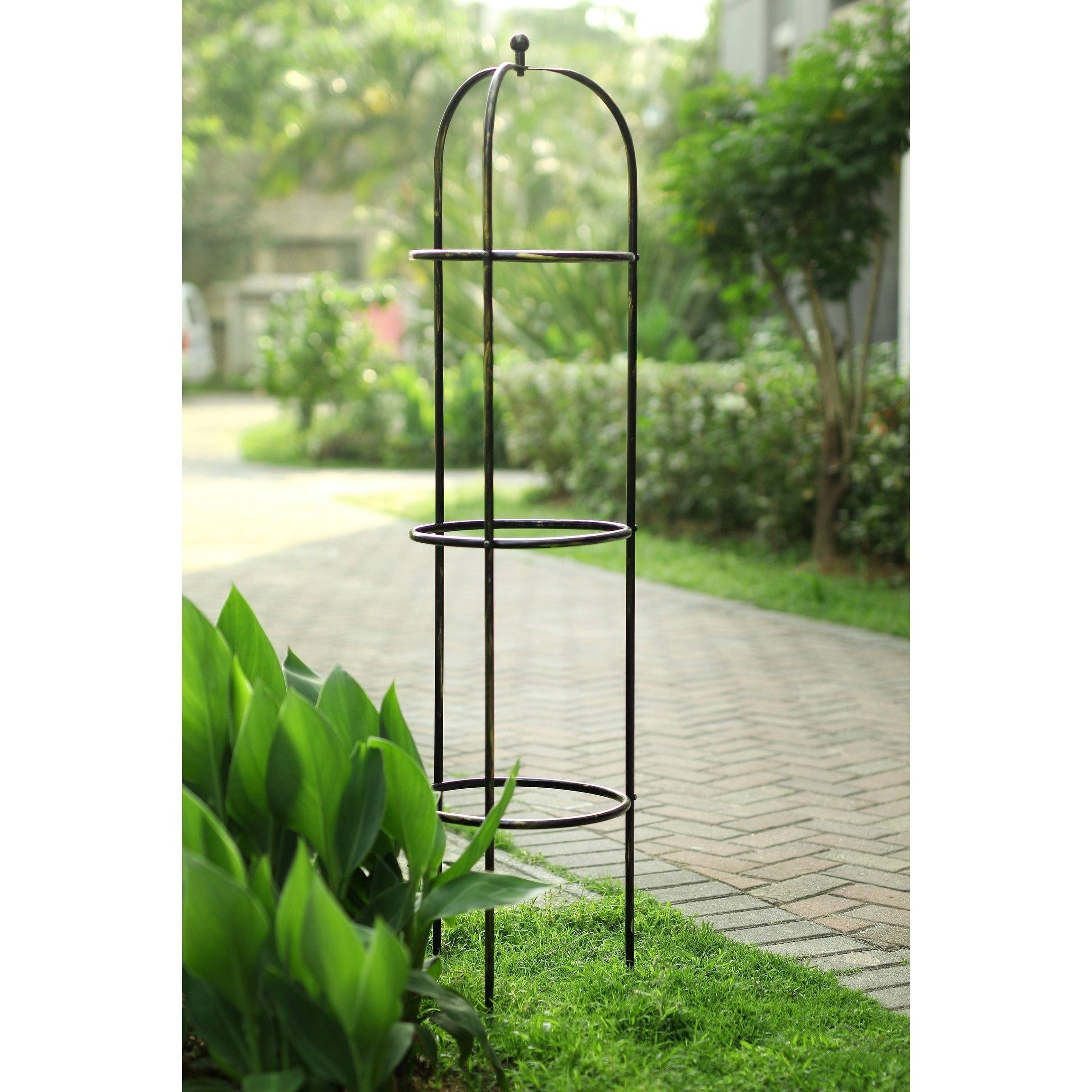 Cast Iron Metal Finial Plant Stake Garden Landscape Outdoor Yard Lawn Home Decor