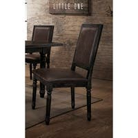 Best Master Furniture Antique Black Side Chairs (Set of 2)
